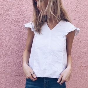 ZARA | Trafaluc Collection White Top